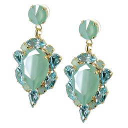 Leilah Earrings Green Opal