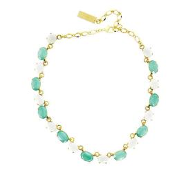 Ari Mint Green And White Necklace