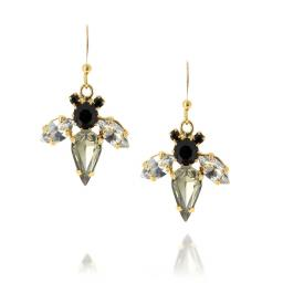 Bumble Bee Grey Earrings