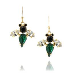 Bumble Bee Emerald Earrings