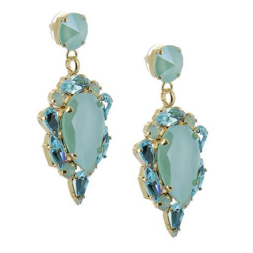 Leilah Earrings Green Opal