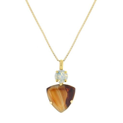 Agate Tiger Eye Necklace