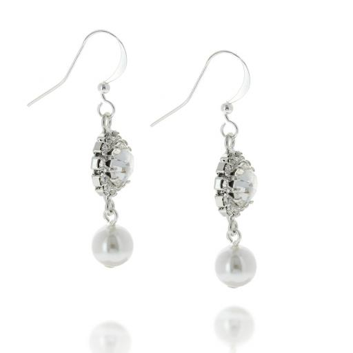 Rosetta Pearl Hooked Earrings.
