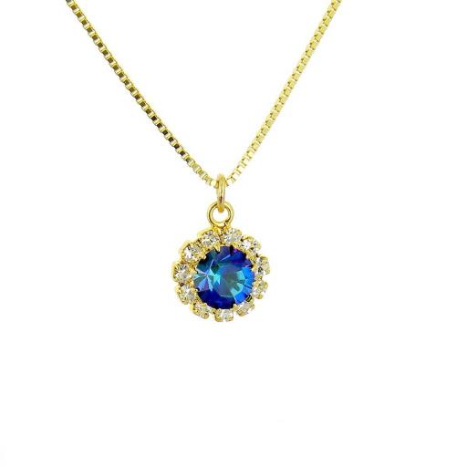 Rosetta Crystal Gold or Silver Plated Pendant