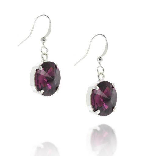 Orla Silver plated Hooked Earrings