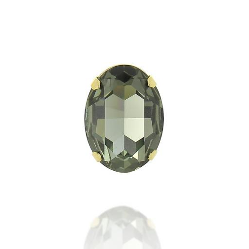 Ova Black Diamond Ring