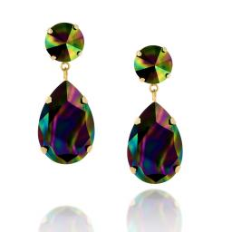 Angelina Earring Dark Rainbow
