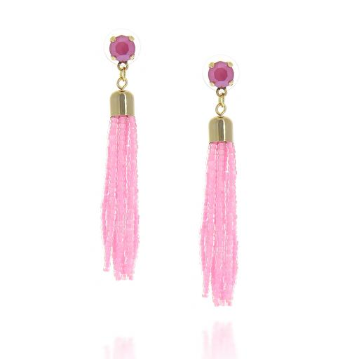 Halley Beaded Tasseled Earrings