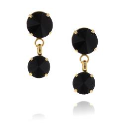 2 Tier mini Nuha rovoli earrings Hina jet drops far krystal london  front on.jpg