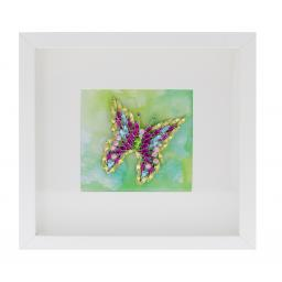 Multicoloured Butterfly Picture Frame