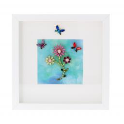 Butterfly Flower Dance Picture Frame