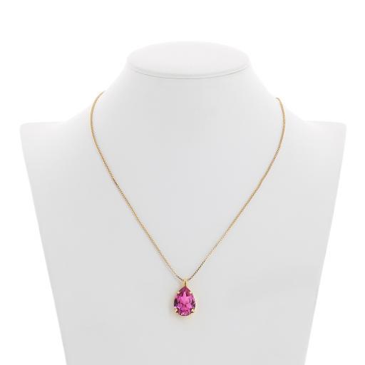 Peach Rose Necklace-Crystal Swarvoski pendant Bust.jpg