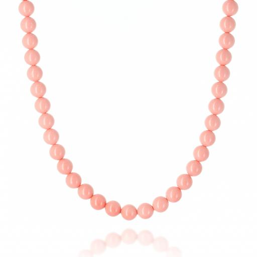 Pink Coral Pearl Necklace Krystal Pearls only London_.jpg