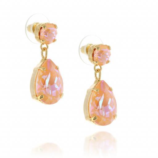 Mini angelina crystal orange earrings side on.jpg