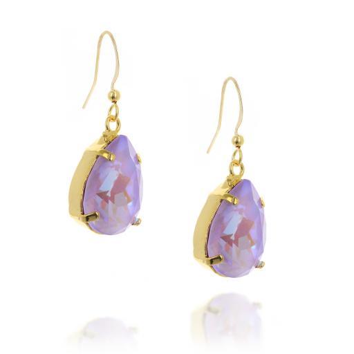 Pear drop Shimmering Earrings sideon crystal.jpg