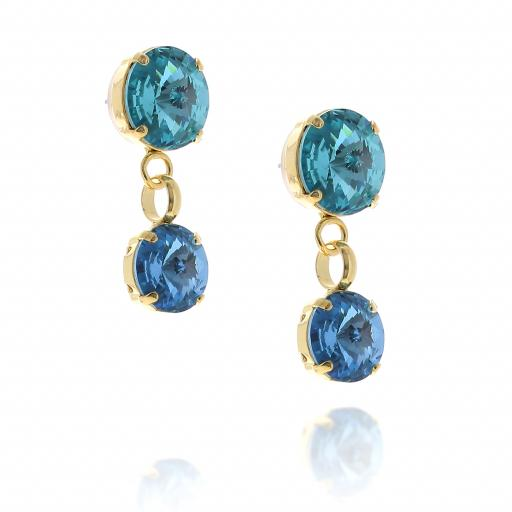 2 Tier mini nuha rovoli earrings Hina rain drops far krystal london side on.jpg