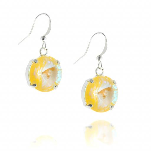 shimming rovoli earring crystal krystal london hook side on Sunshine yellow.jpg