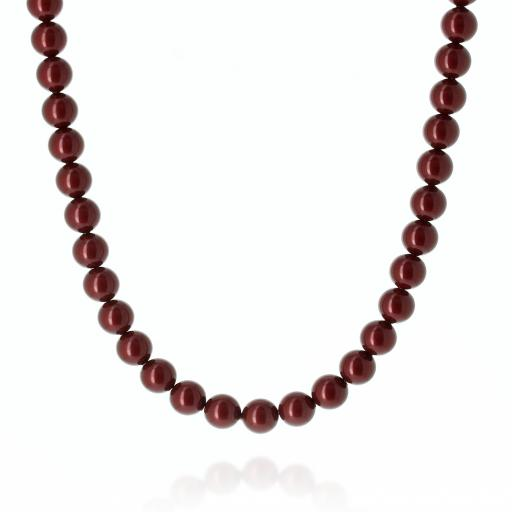 Red Coral Pearl Necklace Krystal pearls only London_.jpg