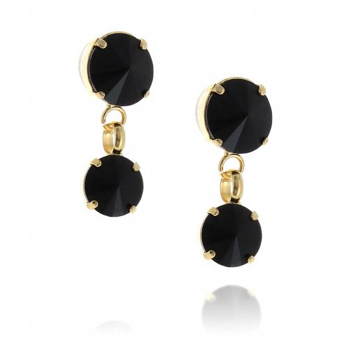 2 Tier mini Nuha rovoli earrings Hina jet drops far krystal london  side on.jpg