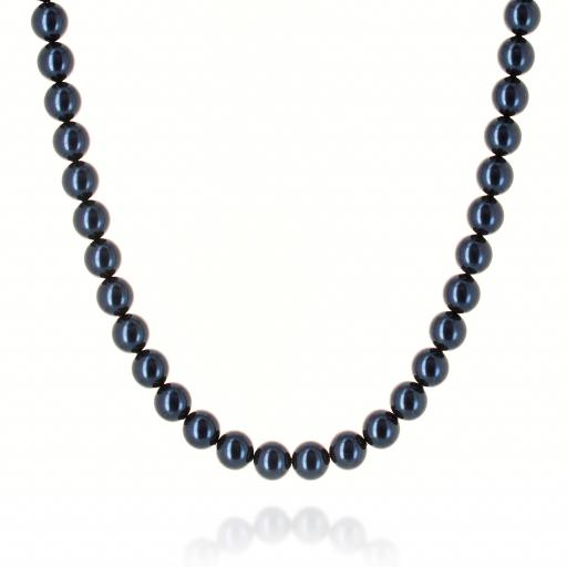 Lapis Blue Pearl Necklace Krystal pearls only London .jpg