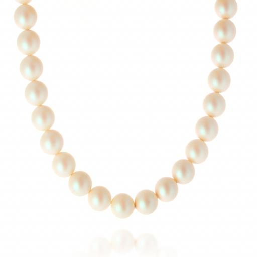 Crystal Pearl Necklace 14mm