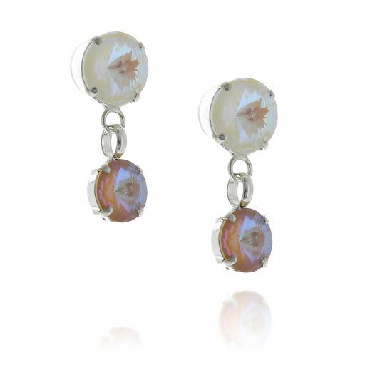2 Tier Mini nuha rovoli earrings  light rain drops far krystal london side on.jpg