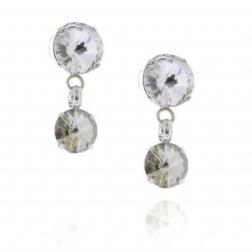 2 Tier Mini Nuha rovoli earrings white clear drops far krystal london side on.jpg