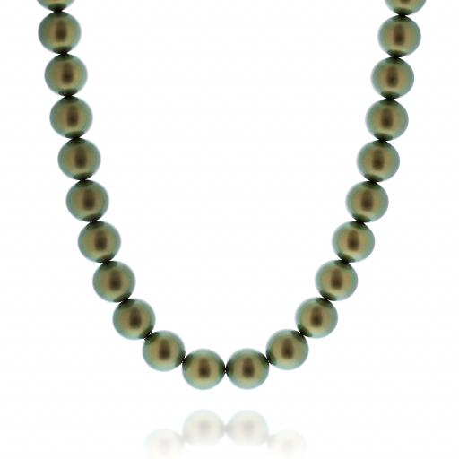 IRIDESCENT GREEN Necklace 16mm Krystal London pearls only.jpg