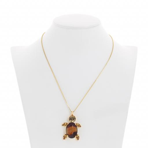Turtle topaz necklace agate krystal london front on.jpg