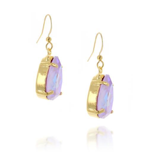 Pear drop Shimmering krystal Earrings far sideon crystal.jpg
