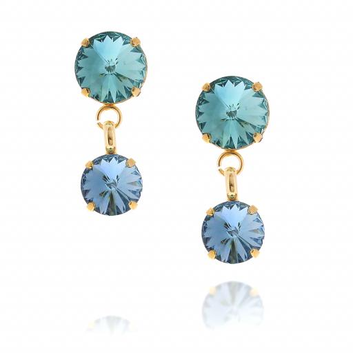 2 Tier mini nuha rovoli earrings Hina rain drops far krystal london front on.jpg