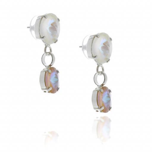 2 Tier Mini nuha rovoli earrings  light rain drops far krystal london far side on.jpg