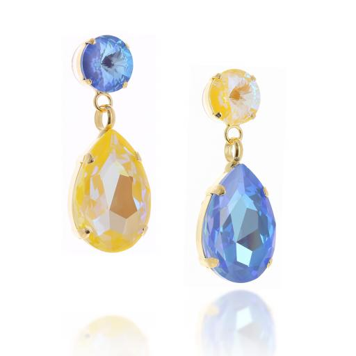 side on shimming blue and yellow paradox anglina earrings krystal.jpg
