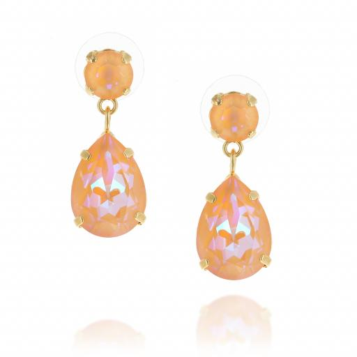 Mini angelina crystal orange earrings front on.jpg