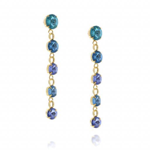 5 Tier rovoli earrings Hina rain drops far krystal london far side on.jpg
