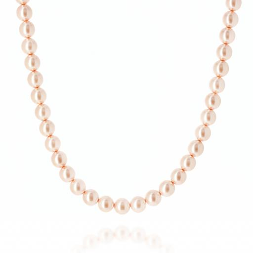 Rose Gold Pearl Necklace Krystal pearls only London_.jpg