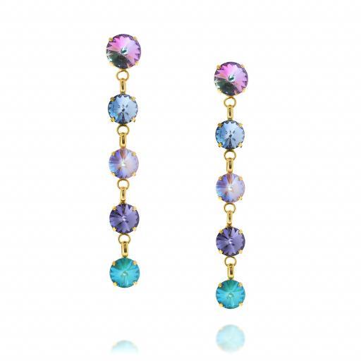 5 Tier rovoli earrings Hina purple rain drops front on.jpg