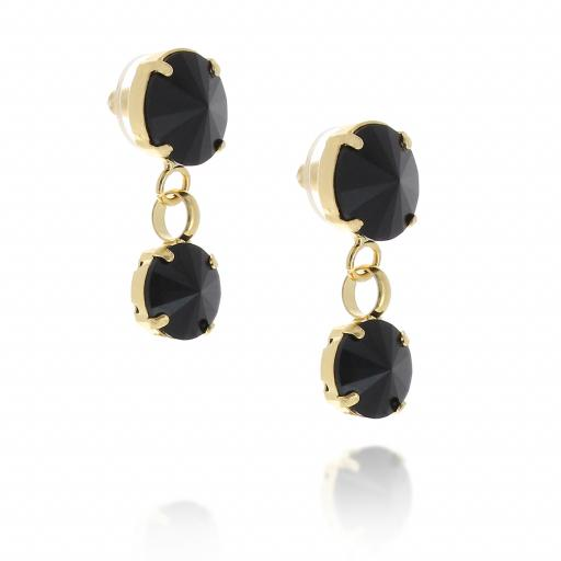 2 Tier mini Nuha rovoli earrings Hina jet drops far krystal london far side on.jpg