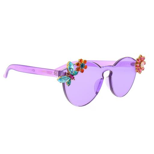 Purple Krystal Sunglasses