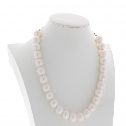 pearl necklace 16mm CRYSTAL PEARLESCENT WHITE Necklace Krystal London maniquin real side on.jpg