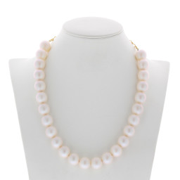pearl necklace 16mm CRYSTAL PEARLESCENT WHITE Necklace Krystal London maniquin front on.jpg