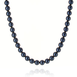 Lapis Blue Pearl Necklace Krystal pearls only London .jpg