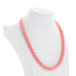 Pink Coral Pearl Necklace Krystal far side on London_.jpg