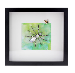 Crystal spider and Topaz bee frame.jpg
