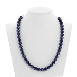 Lapis Blue Pearl Necklace Krystal pearls front on London .jpg.jpg