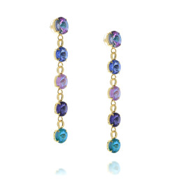 5 Tier rovoli earrings Hina purple rain drops far side on.jpg