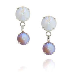 2 Tier Mini nuha rovoli earrings  light rain drops far krystal london front on.jpg