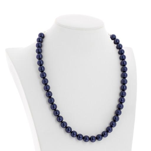 Lapis Blue Pearl Necklace Krystal pearls side on London .jpg.jpg
