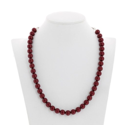 Red Coral Pearl Necklace Krystal front on London_.jpg