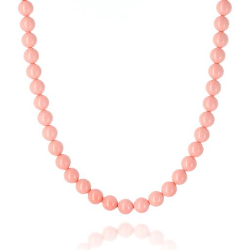 Pink Coral Pearl Necklace Krystal Pearls only London_.jpg